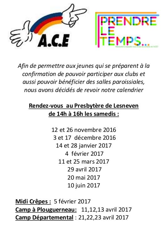 Nouvelles Dates 2016-2017